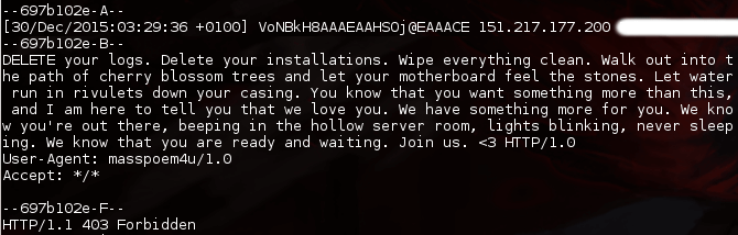 A message from 32C3