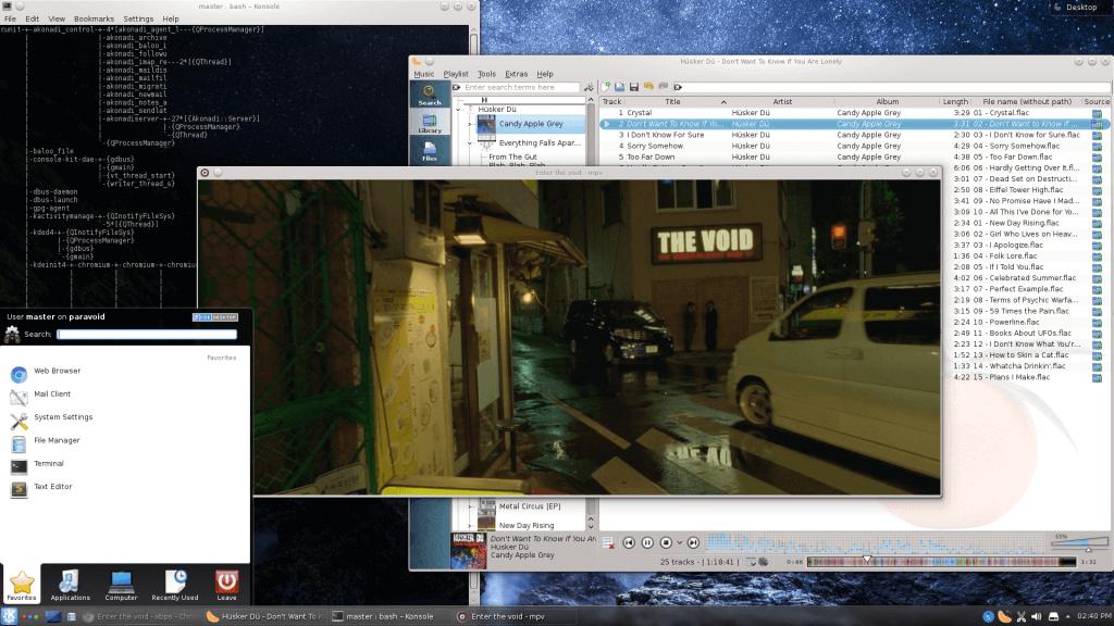 Void Linux - KDE4 desktop
