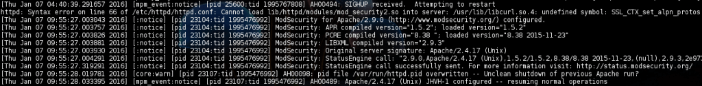 ModSecurity libcurl error