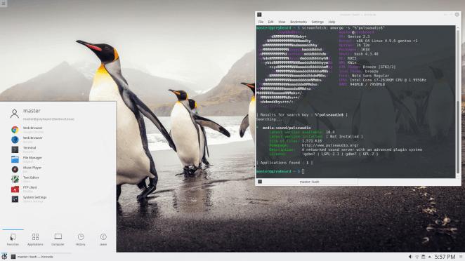 Gentoo Linux KDE Plasma