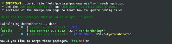 Portage - System updates