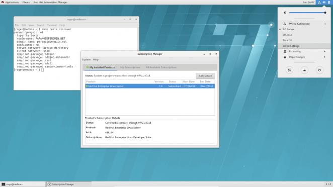 RHEL 7.4 desktop