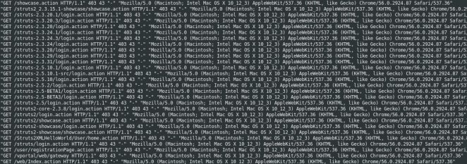 Apache Struts 2 vulnerability scan
