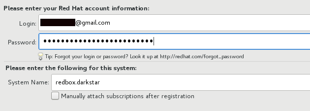RHEL account validation
