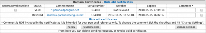 CAcert domain certificates