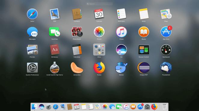 macOS Sierra - Launchpad