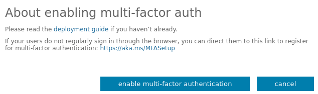 Office 365 enable multifactor authentication