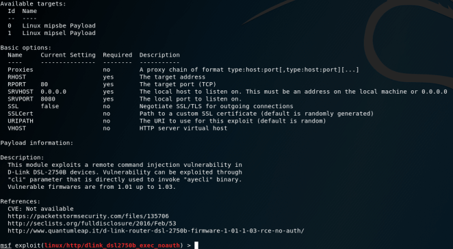 MetaSploit - OS Command Injection