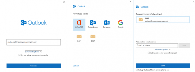 Outlook 365 IMAP