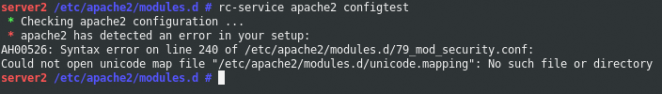 Gentoo ModSecurity Unicode Mapping