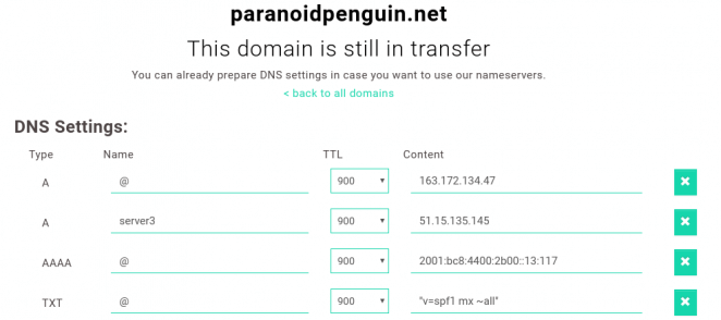 Njalla - DNS management