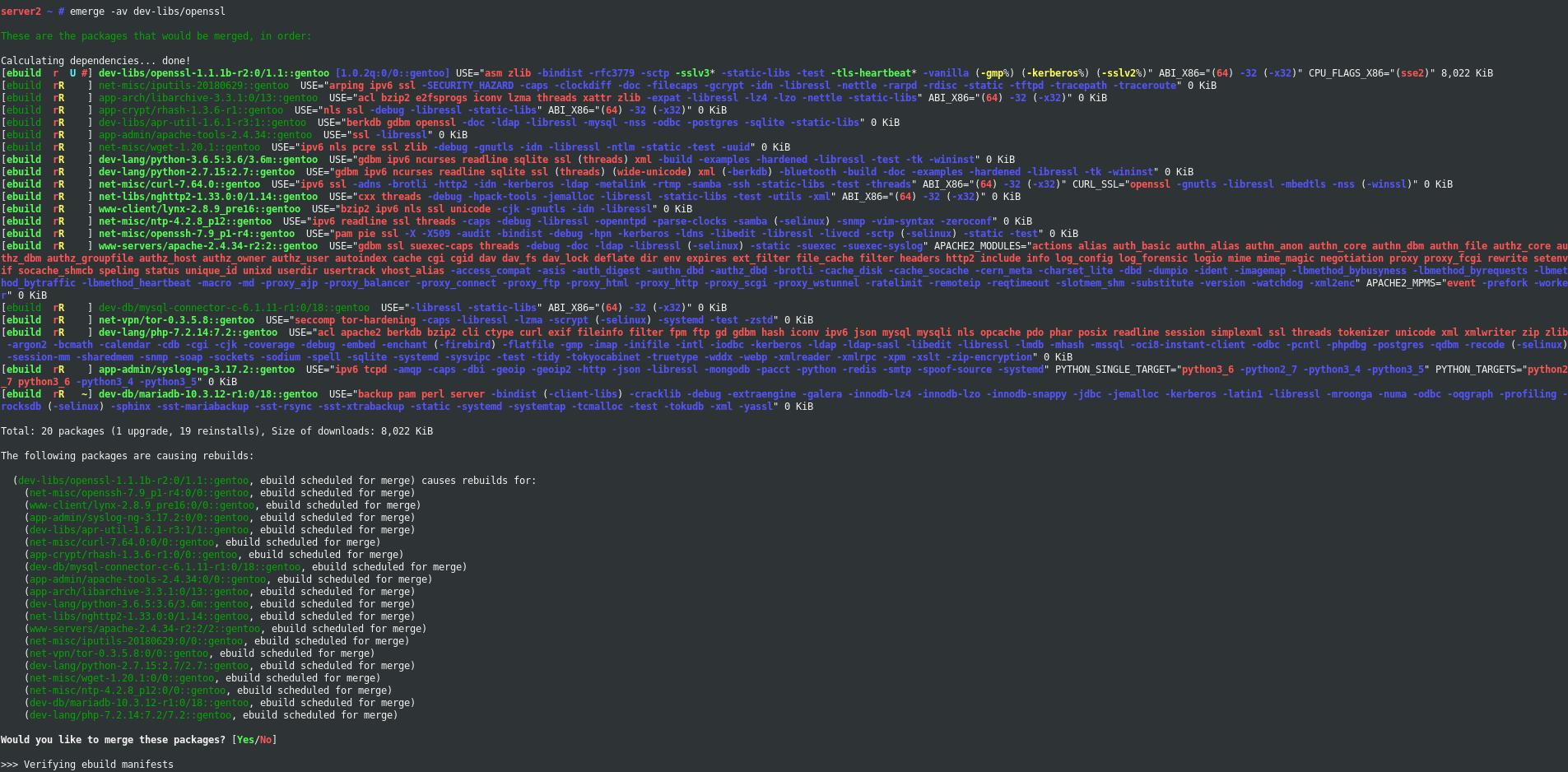 OpenSSL 1.1.1 on Gentoo Linux