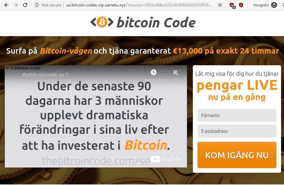 Bitcoin Code Fake