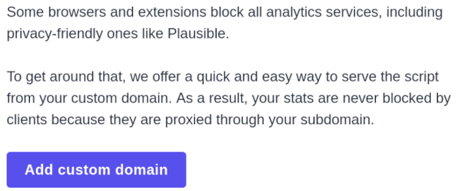 Plausible Analytics - CNAME cloaking